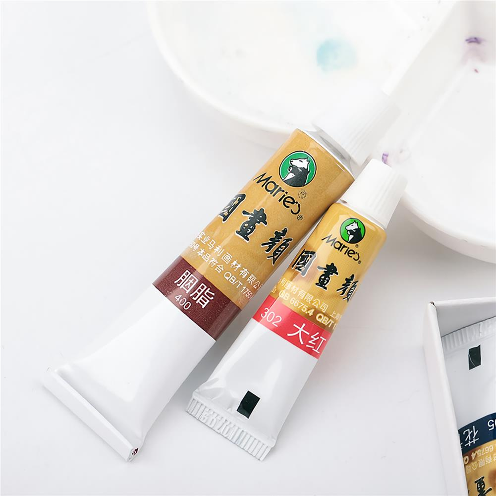 watercolor-paints Marie's 18/24/36 Colors Watercolor Paint Set Oil Painting Pigment School Art Drawing Supplies Profesional Painting Tools HOB1540689 3 1