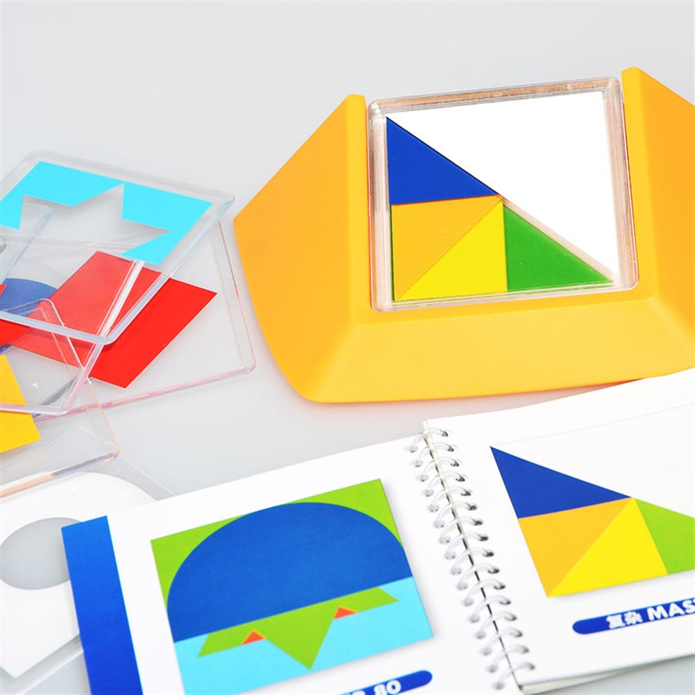 other-learning-office-supplies Xiaoguaidan ZM0096 100 levels Baby Colorful Plate Spatial Thinking Jigsaw Puzzle Toy Kids Logical Thinking Color Match Desktop Game Birthday Gifts for Childrens Kids HOB1544822 2 1