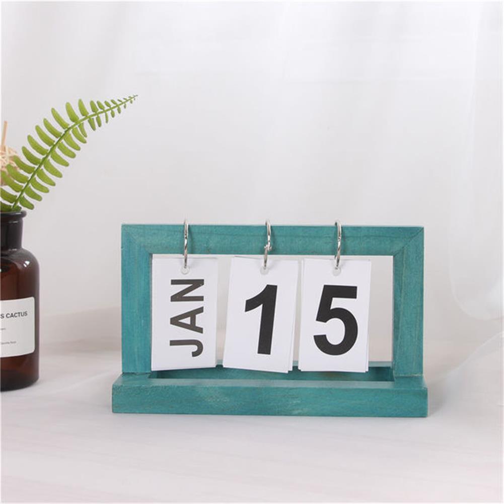 desktop-off-surface-shelves Creative Modern Wooden Calendar Desktop DIY Calendar Perpetual for office Home Bedroom Decoration HOB1545635 1