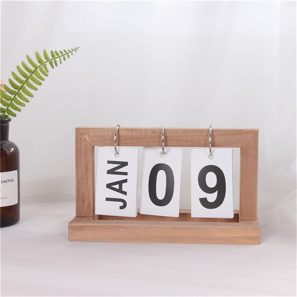 desktop-off-surface-shelves Creative Modern Wooden Calendar Desktop DIY Calendar Perpetual for office Home Bedroom Decoration HOB1545635 1 1