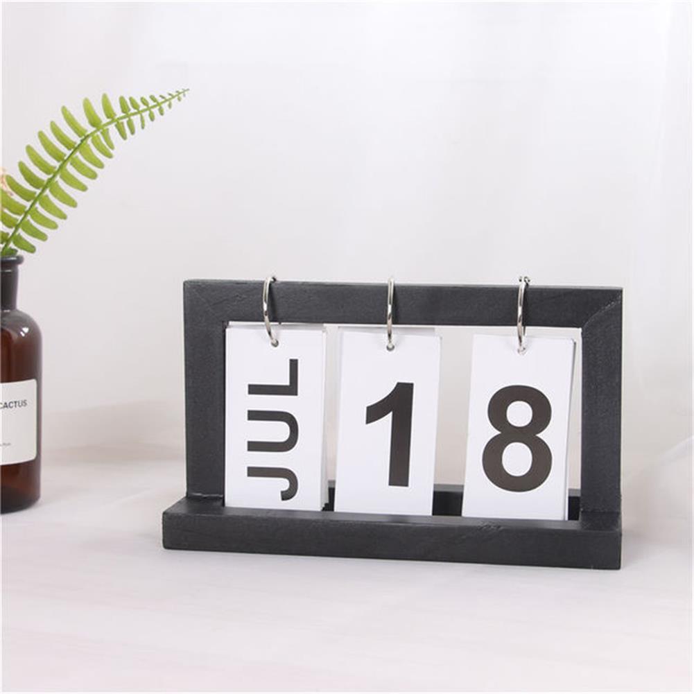 desktop-off-surface-shelves Creative Modern Wooden Calendar Desktop DIY Calendar Perpetual for office Home Bedroom Decoration HOB1545635 2 1