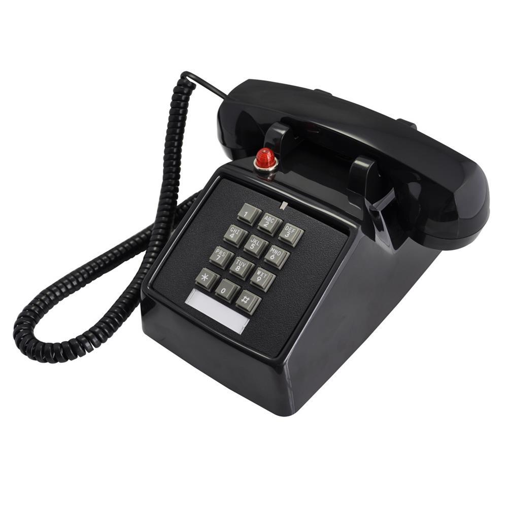 attendance-machine 25T Retro Telephone Metal Pedestal Antique Telephone Classical Old Style Landline Telephone HOB1547623 1