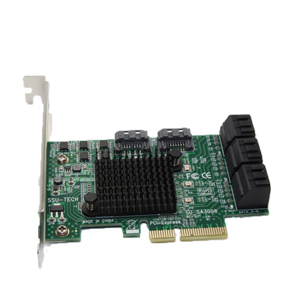 pci-cards SSU SA3008 PCI - E to SATA 3.0 Expansion Card with 8 Port SSD Adapter Card IPFS HOB1548121 1