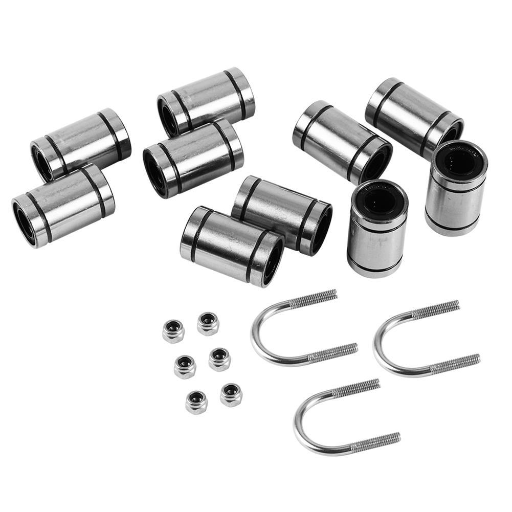 3d-printer-accessories 10x LM8UU Bearings + 3x U-bolts + 6x M3 Locking Screws Kit for 3D Printer Parts HOB1549863 1 1