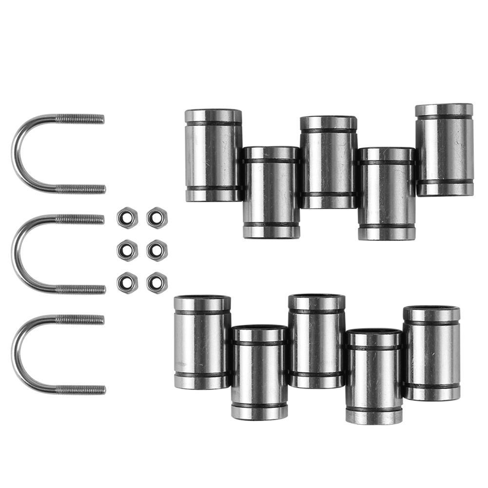 3d-printer-accessories 10x LM8UU Bearings + 3x U-bolts + 6x M3 Locking Screws Kit for 3D Printer Parts HOB1549863 3 1