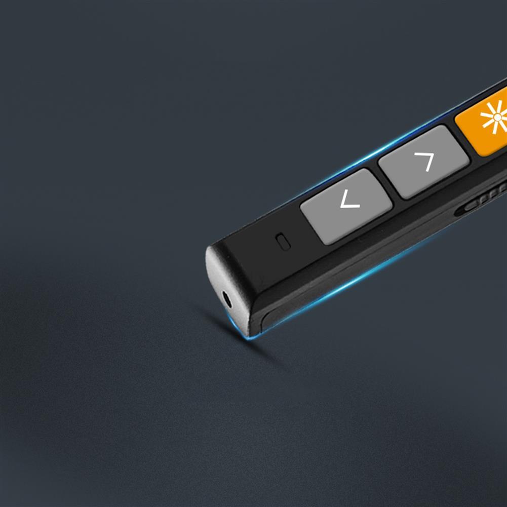 laser-pens Vesine VP152 Rechargeable Wireless Presenter Laser Flip Pen PPT Laser Page Pen Clicker Presentation Pen USB Remote Control Supports Hyperlink Function HOB1551124 3 1