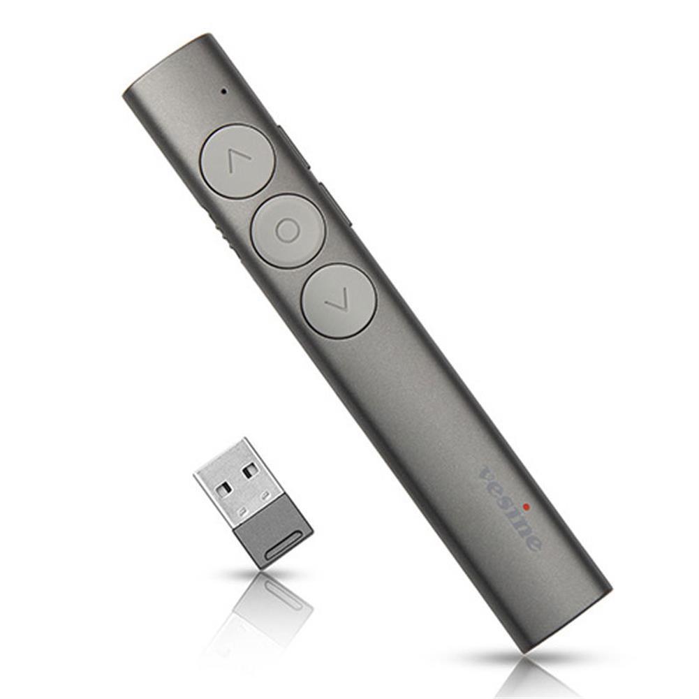laser-pens Vesine V9 Rechargeable Wireless Presenter Red Laser Flip Pen PPT Laser Page Pen Clicker Presentation Pen USB Remote Control Touch-Keys HOB1551149 1