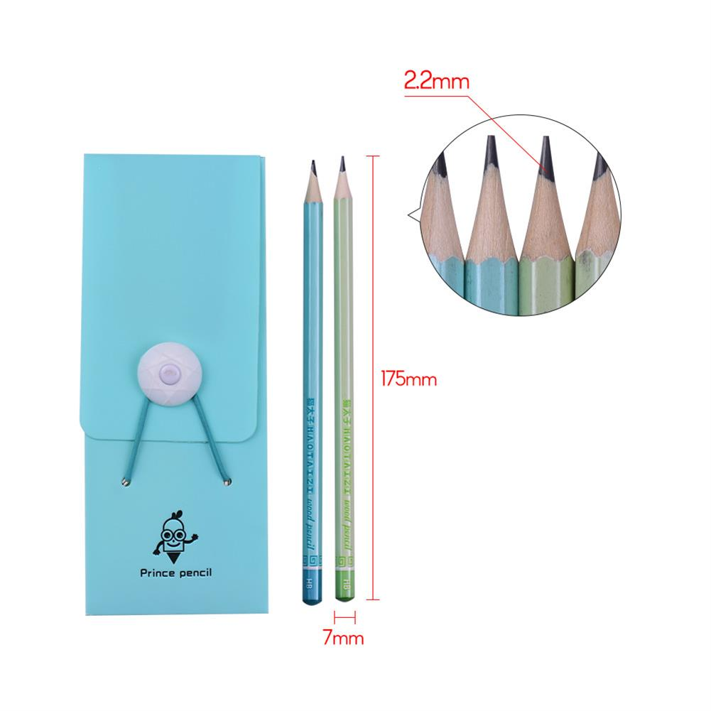 gel-pen Mprince M343 36 Pcs Colorful Wooden HB Pencils with Pencil Case Hexagonal Pencil Stationery for School office Drawing Sketching Writng HOB1552197 1 1