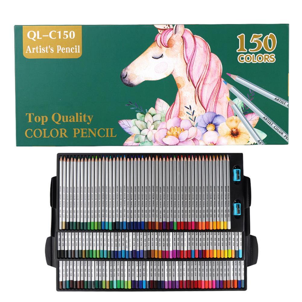 watercolor-paints QiLi QL-C150 150 Colors Wood Colored Pencils Artist Painting Oil Color Pencil for School Drawing Sketch Pens Art Supplies Stationery HOB1555736 1