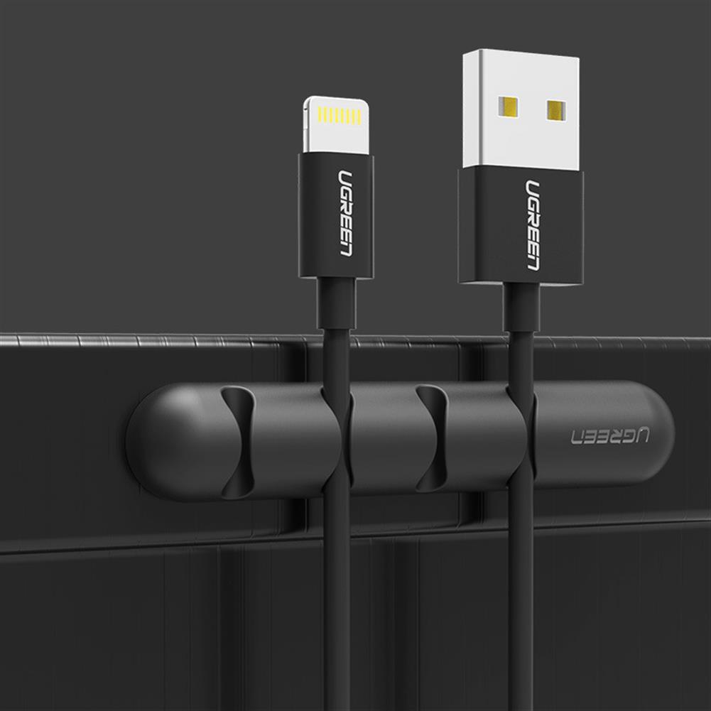 desktop-off-surface-shelves Ugreen LP114 Cable Organizer Silicone USB Cable Winder Desktop Cable Holder Flexible Cable Management Clips for Mouse Headphone Earphone HOB1555991 3 1