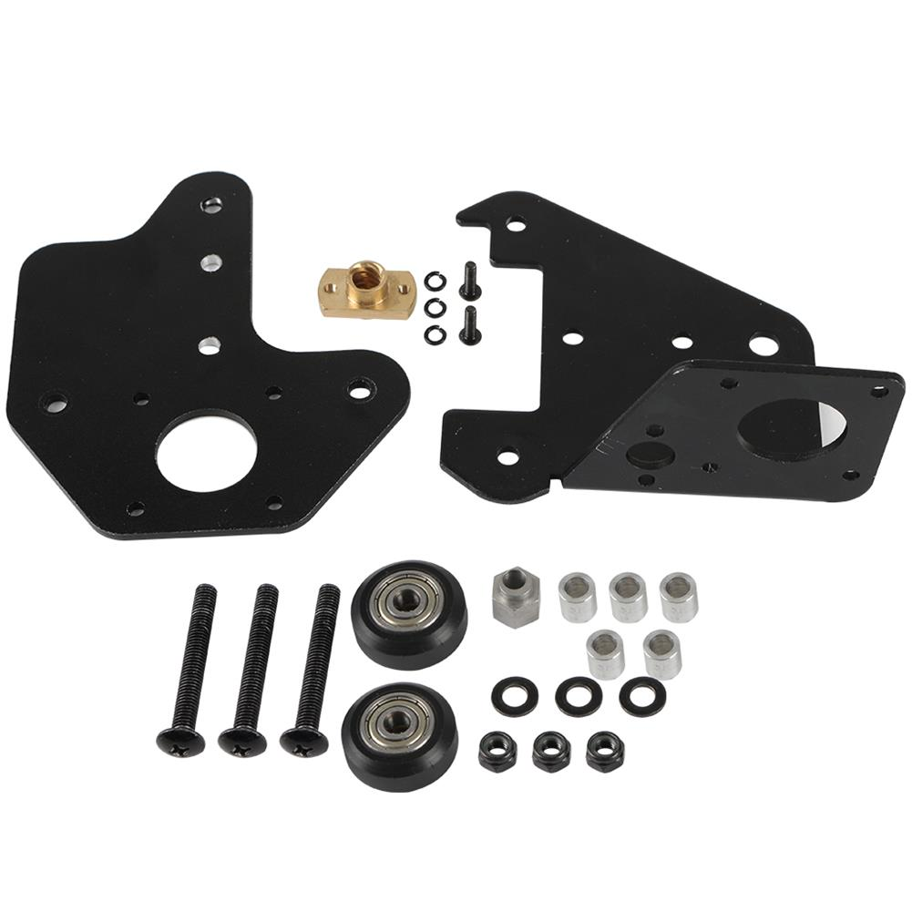 3d-printer-accessories S4/S5 Left X-Axis Motor Mount Bracket Plate with Pulley & T8 Nut for CR-10 Creality 3D Printer Part HOB1557134 1 1