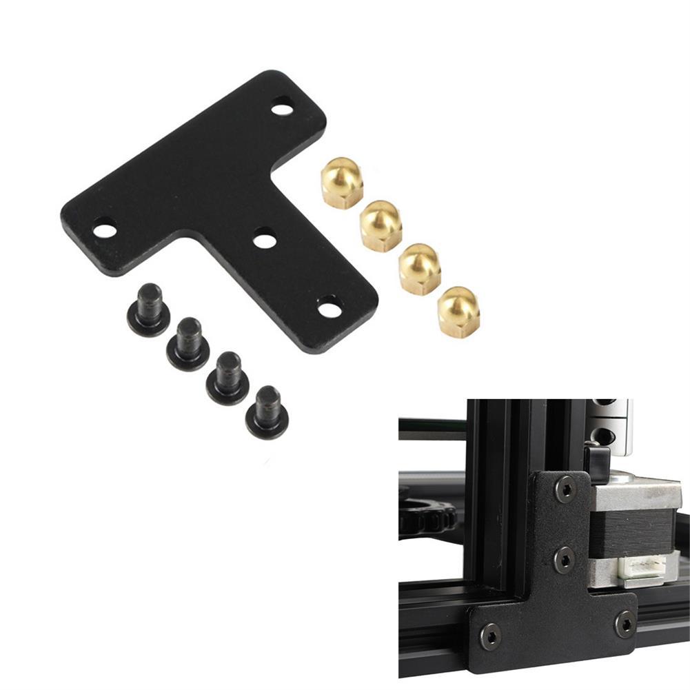 3d-printer-accessories Black Metal T-type Brass Nut Bracket Fixed Plate for Tornado/CR-10S/Ender-3 3D Printer Part HOB1557135 1