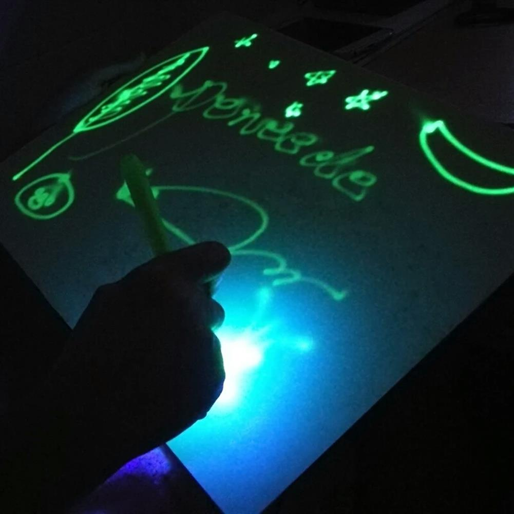 gel-pen Elice A3/A4 Luminous Drawing Board Night Light Fluorescent Writing Tablet Educational Funny Toys for Childrens Boys Girls Early Education JSK-FA4 JSK-FA3 HOB1557770 2 1