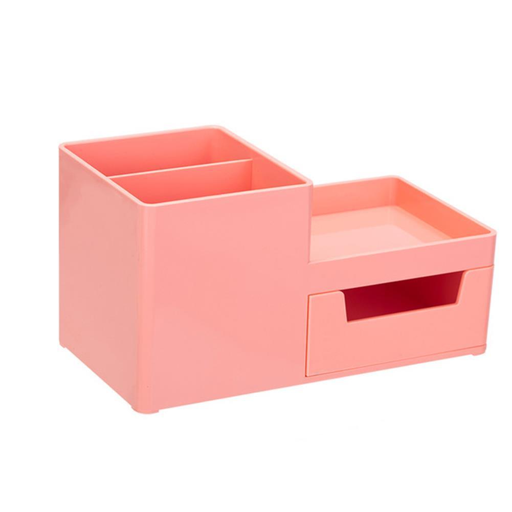 pen-holders, filing Deli 8907 Storage Box Multi-functional Desktop Pen Holder Student Stationery Organizer with Drawer Desk Accessories office School Supplies HOB1558110 1