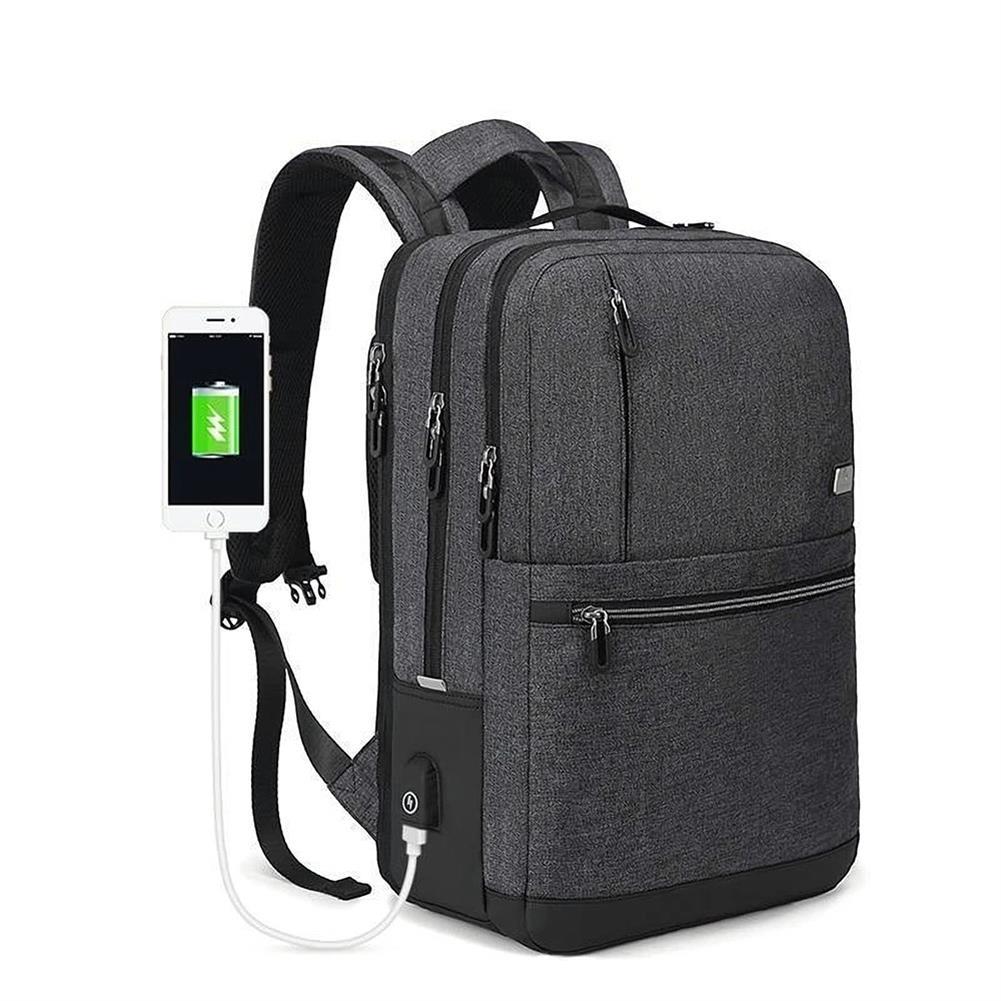 laptop-bags, cases-sleeves OUTWALK 15.6 inch Laptop Bag Backpack with USB Charging Outdoor Sports Travel Backpack Waterproof Shoulders Storage Bag HOB1558151 3 1