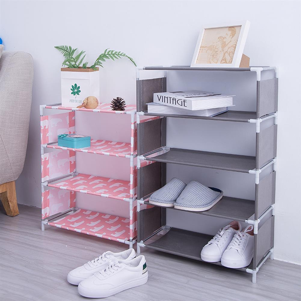 book-stands 5 Layers Non-woven Shoe Rack Large Size Living Room Fabric Dustproof Cabinet Organizer Holder DIY Foldable Stand Shoes Shelf Bookshelf HOB1562762 1