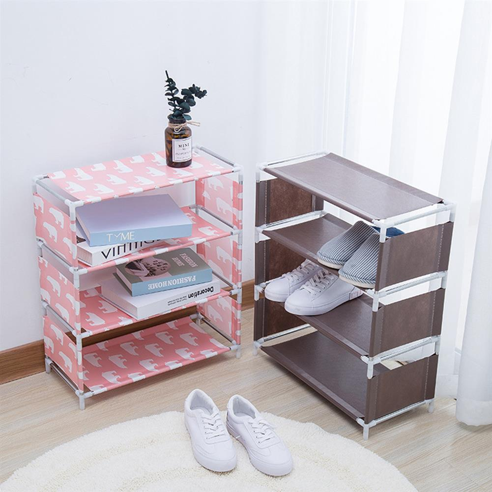 book-stands 5 Layers Non-woven Shoe Rack Large Size Living Room Fabric Dustproof Cabinet Organizer Holder DIY Foldable Stand Shoes Shelf Bookshelf HOB1562762 1 1