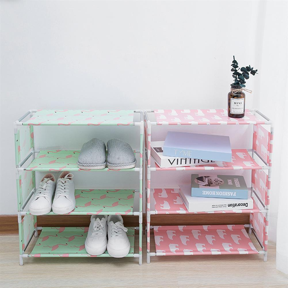 book-stands 5 Layers Non-woven Shoe Rack Large Size Living Room Fabric Dustproof Cabinet Organizer Holder DIY Foldable Stand Shoes Shelf Bookshelf HOB1562762 2 1
