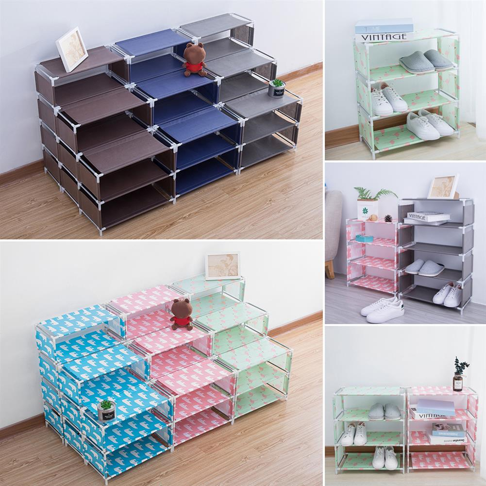 book-stands 5 Layers Non-woven Shoe Rack Large Size Living Room Fabric Dustproof Cabinet Organizer Holder DIY Foldable Stand Shoes Shelf Bookshelf HOB1562762 3 1