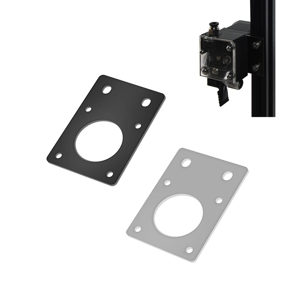 3d-printer-accessories TWO TREES NEMA17 42 Stepper Motor Black/Silver Fixed Bracket Mounting Plate for 3D Printer Motor 2020 Profile Parts HOB1564158 1