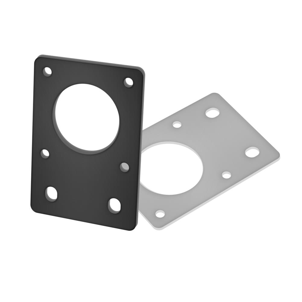 3d-printer-accessories TWO TREES NEMA17 42 Stepper Motor Black/Silver Fixed Bracket Mounting Plate for 3D Printer Motor 2020 Profile Parts HOB1564158 1 1