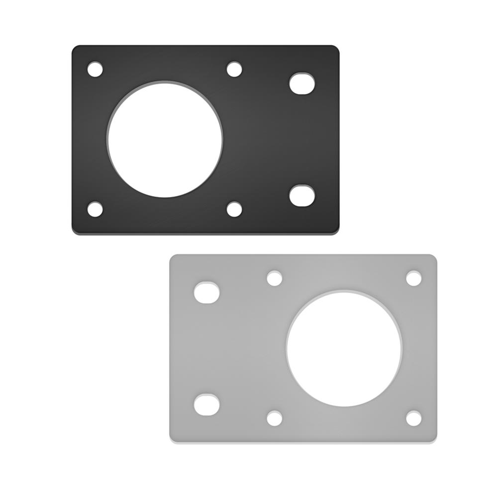 3d-printer-accessories TWO TREES NEMA17 42 Stepper Motor Black/Silver Fixed Bracket Mounting Plate for 3D Printer Motor 2020 Profile Parts HOB1564158 2 1