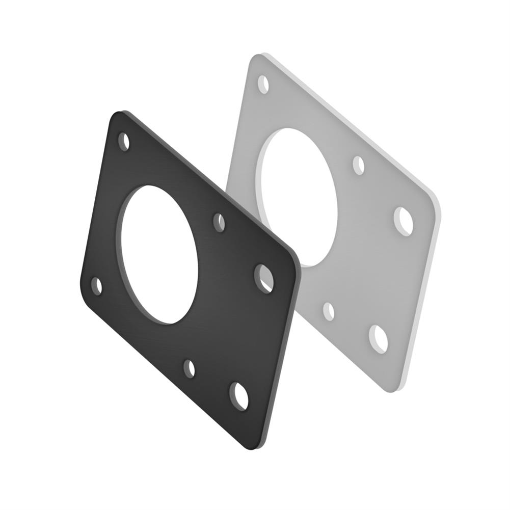 3d-printer-accessories TWO TREES NEMA17 42 Stepper Motor Black/Silver Fixed Bracket Mounting Plate for 3D Printer Motor 2020 Profile Parts HOB1564158 3 1