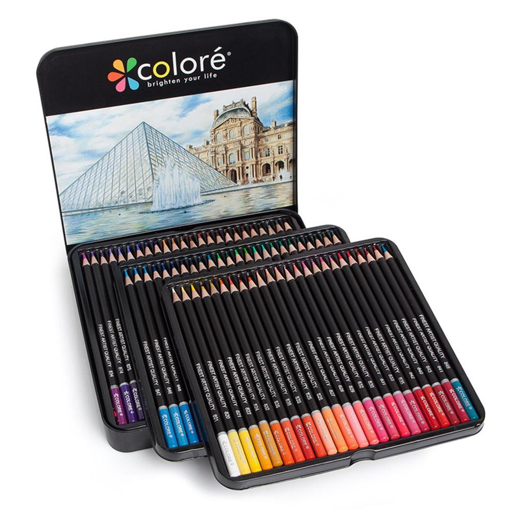 art-kit H&B HB-CPTB072 48/72 Colors Pre-Sharpened Oily Colored Pencil Set Sketch Painting Pencils Crayons for Drawing Coloring School Art Supplies for Kids & Adults HOB1564377 1 1