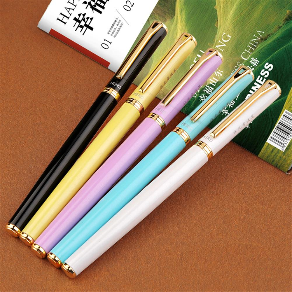 pen HERO 3319 0.5mm Colorful Fountain Pen Fine Nib Calligraphy Writing Signing ink Pens office School Stationery Gifts for Students Friends HOB1565800 1 1