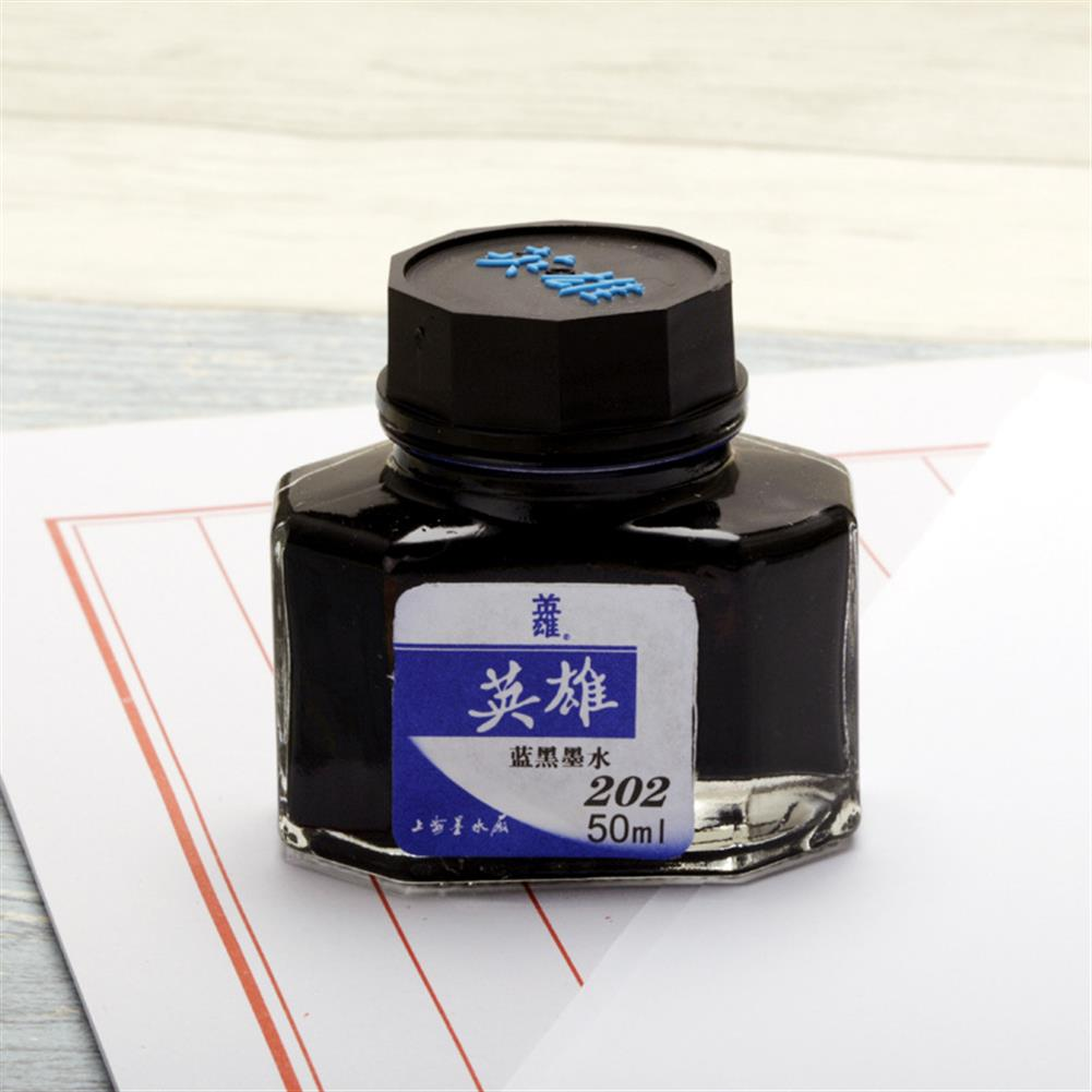 ink-box HERO 20/25/50/60ml Bottled Glass Smooth Writing Fountain Pen ink Non-carbon Waterproof ink Refill Students Stationery office School Supplies 201 202 203 204 400 440 8801 8802 8804 8808 9001 9002 HOB1566718 1 1