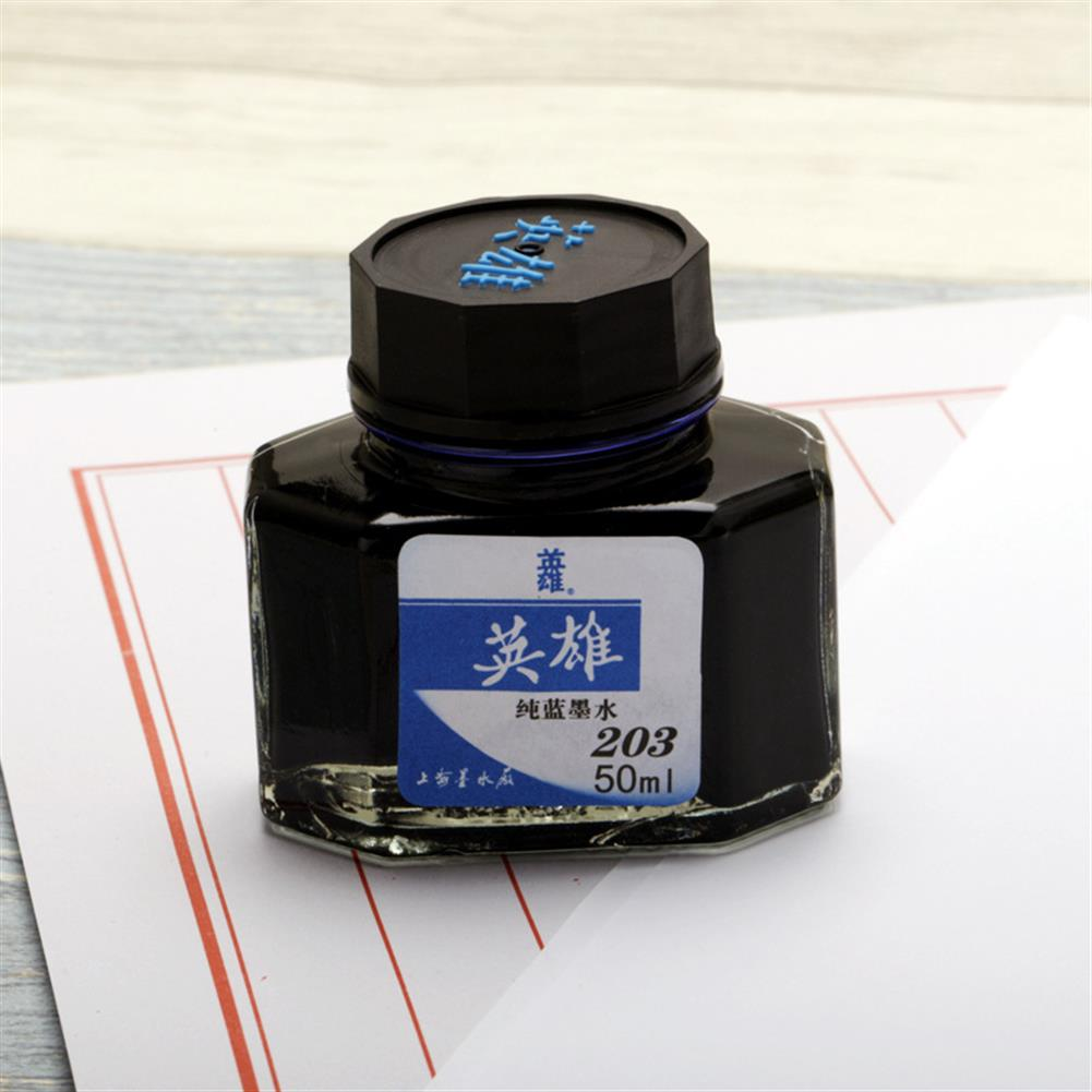ink-box HERO 20/25/50/60ml Bottled Glass Smooth Writing Fountain Pen ink Non-carbon Waterproof ink Refill Students Stationery office School Supplies 201 202 203 204 400 440 8801 8802 8804 8808 9001 9002 HOB1566718 2 1