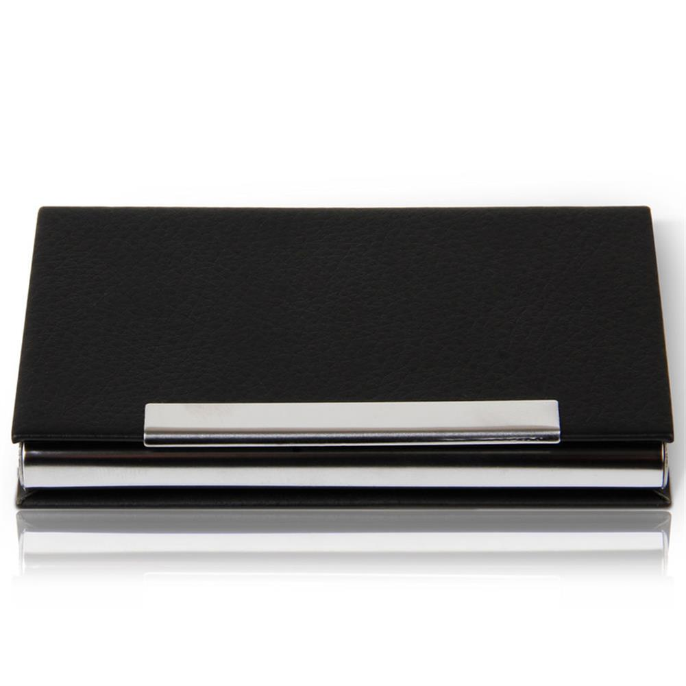 other-learning-office-supplies Deli 7628 Portable Magnetic Buckle Business Card Holder PU Leather Name Card Case Business ID Credit Card Case Cover Storage Organizer HOB1567095 1 1