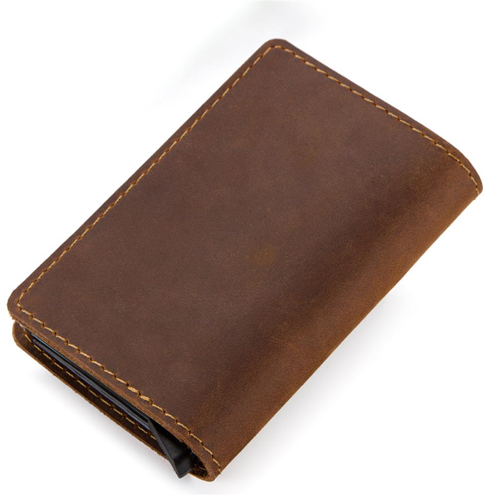 business-card-book CONTACTS RFID Portable Auto Pops Up Business Card Holder Wallet Crazy Horse Leather Vintage Name Card Case ID Credit Card Storage Box HOB1567192 1 1