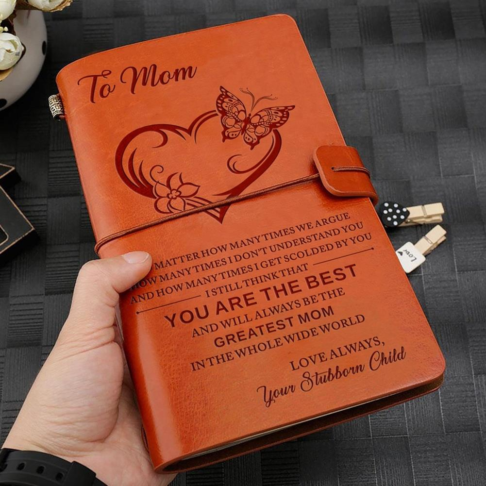 paper-notebooks To My Mom eather Journal Notebook Diary Custom Quotes Gift Anniversary Birthday Graduation HOB1571820 1 1