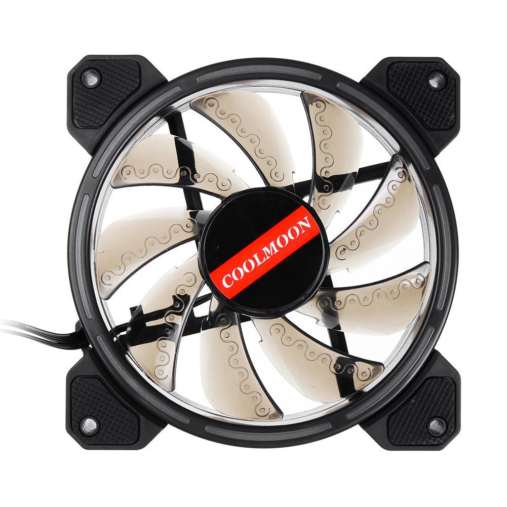 fans-cooling 12CM 3 Pin 1 Fan 12 Modes Adjustable Colorful RGB LED Silent Computer Case Cooling Fan HOB1572823 1