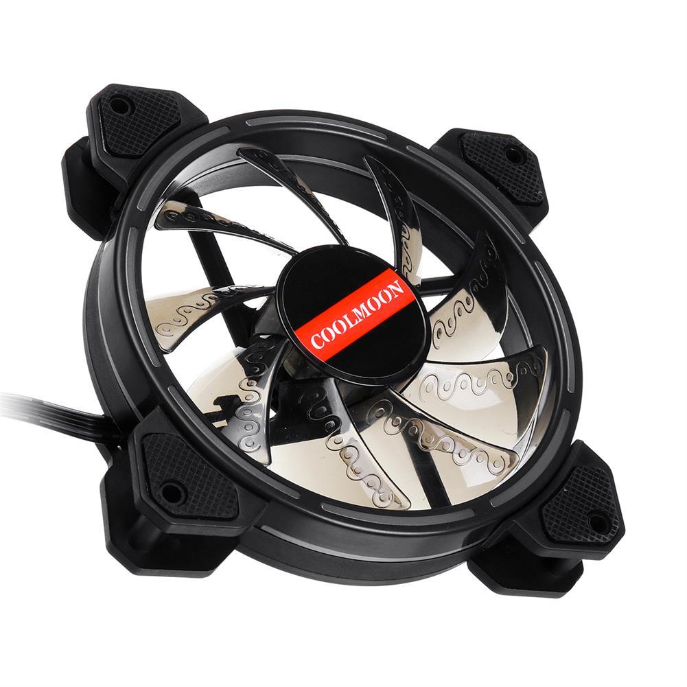 fans-cooling 12CM 3 Pin 1 Fan 12 Modes Adjustable Colorful RGB LED Silent Computer Case Cooling Fan HOB1572823 1 1