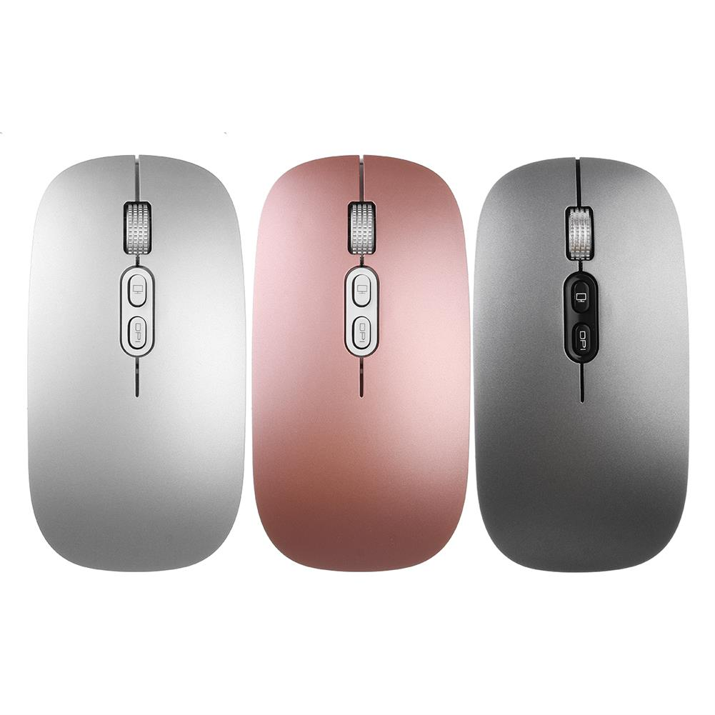 mouse 2.4 GHZ 800/1200/1600 DPI Wireless USB Charging Ultra-thin office Mouse for PC Laptop. HOB1575728 1