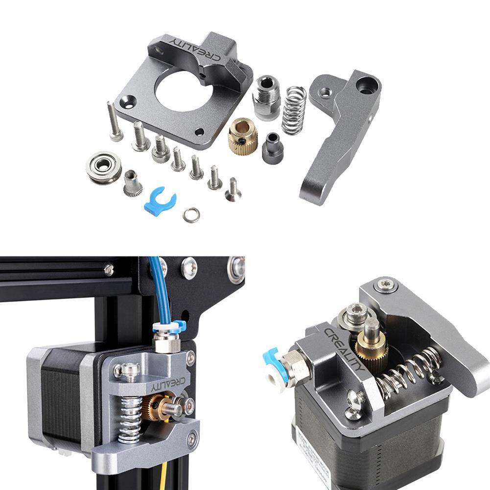 3d-printer-accessories Aluminum Block Silver Metal Extruder Kit for Creality 3D Ender 3/3 Pro/5/CR-10/10S 1.75mm Filament HOB1577567 1