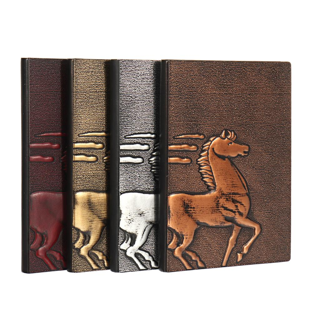paper-notebooks 1 Piece European Retro 3D Embossed PU Notebook A5 Bronze Color Notepad Vintage Journal Diary Stationery Supplies HOB1580369 1