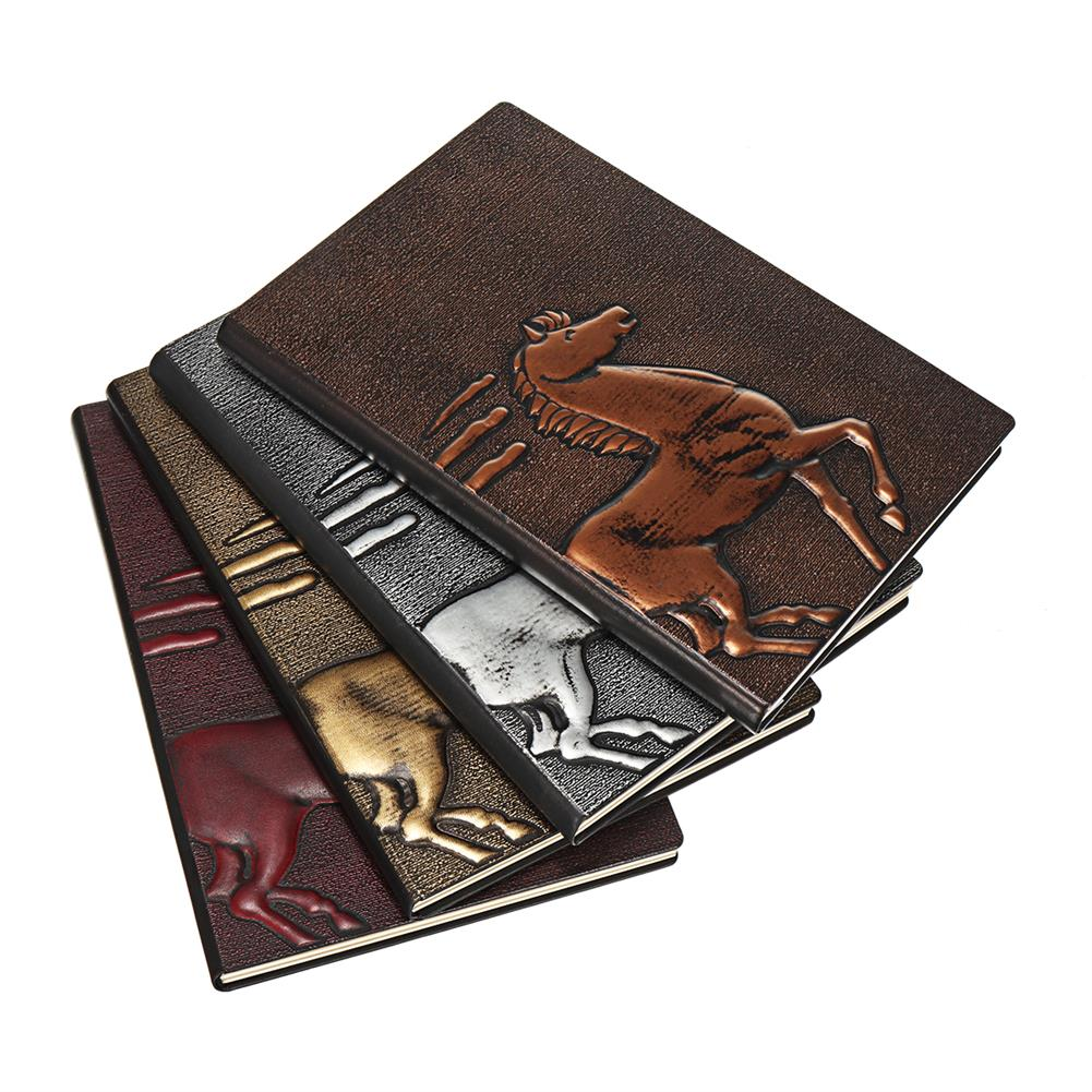 paper-notebooks 1 Piece European Retro 3D Embossed PU Notebook A5 Bronze Color Notepad Vintage Journal Diary Stationery Supplies HOB1580369 1 1