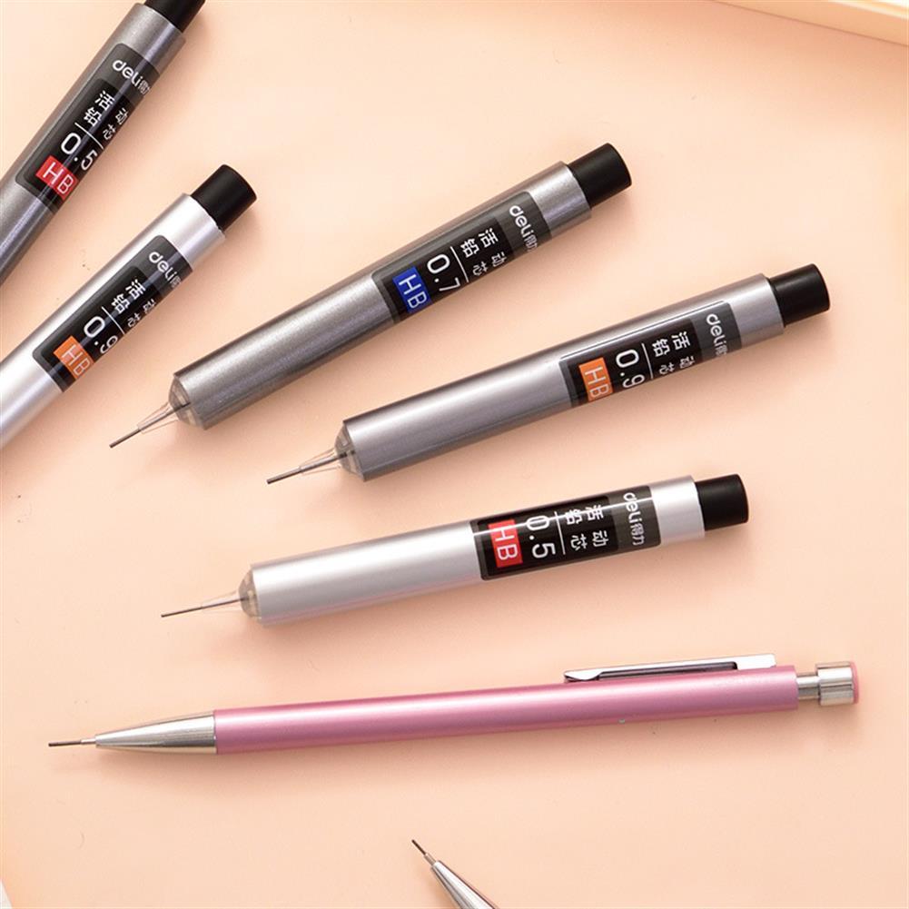 pencil Deli Press Type 0.5/0.7/0.9mm HB Automatic Pencil Refills Lead office School Stationery Mechanical Pencil Refill HOB1584554 1 1