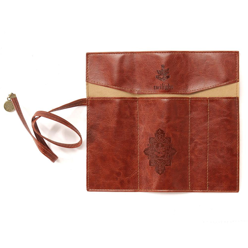 pencil-case Vintage Retro Luxury Roll Leather Make Up Cosmetic Pen Pencil Case Pouch Purse Bag Stationery School office Supplies HOB1585958 1 1