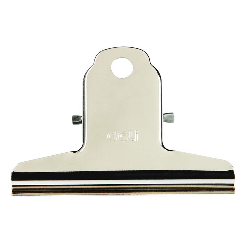 desktop-off-surface-shelves Deli 9533 4 Pcs/lot 76mm Large Yamagata Bill Tickets Clamp Board Clips Financial Binder Clips Metal Bill Holder office and School Supplies HOB1588325 1 1