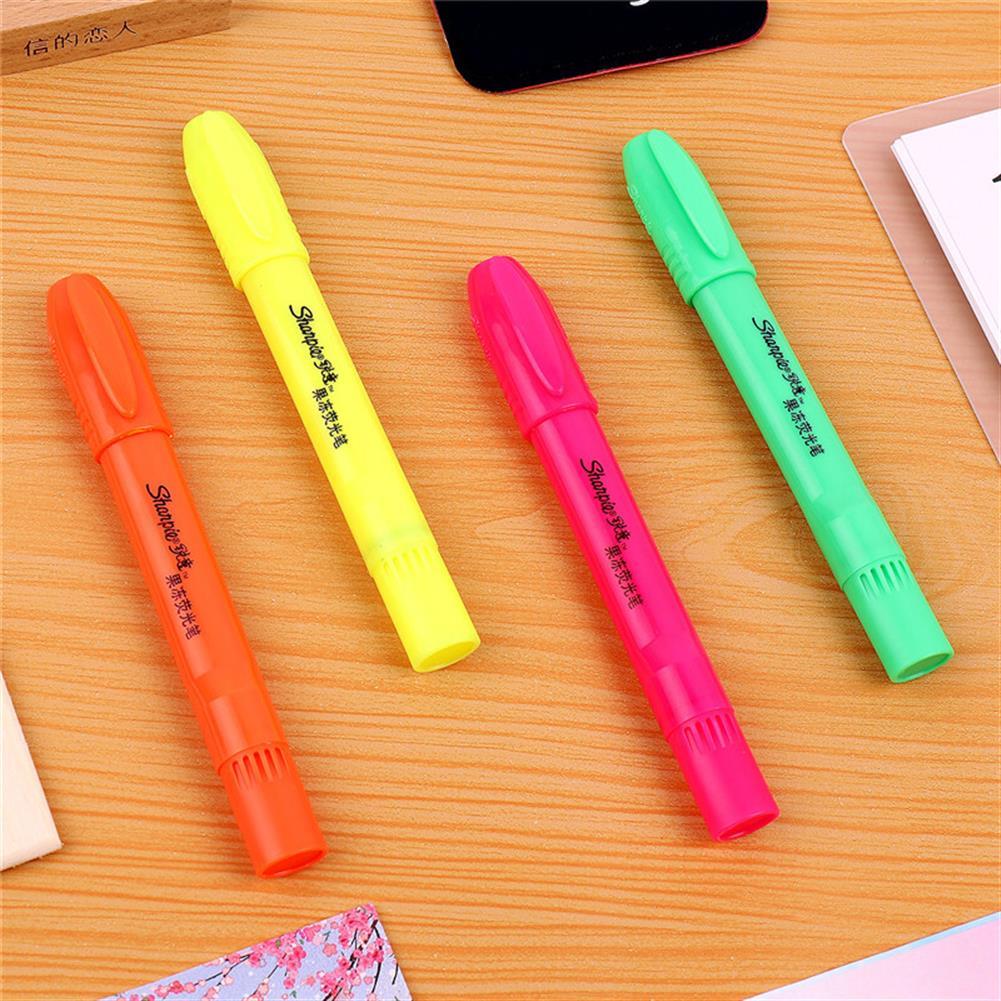 gel-pen Sharpie 4 Pcs/set Jelly Highlighter Fluorescent Pens Colorful Marker Pen Blister Pen Stationery office School Supplies from XIAOMI YOUPIN HOB1588371 2 1
