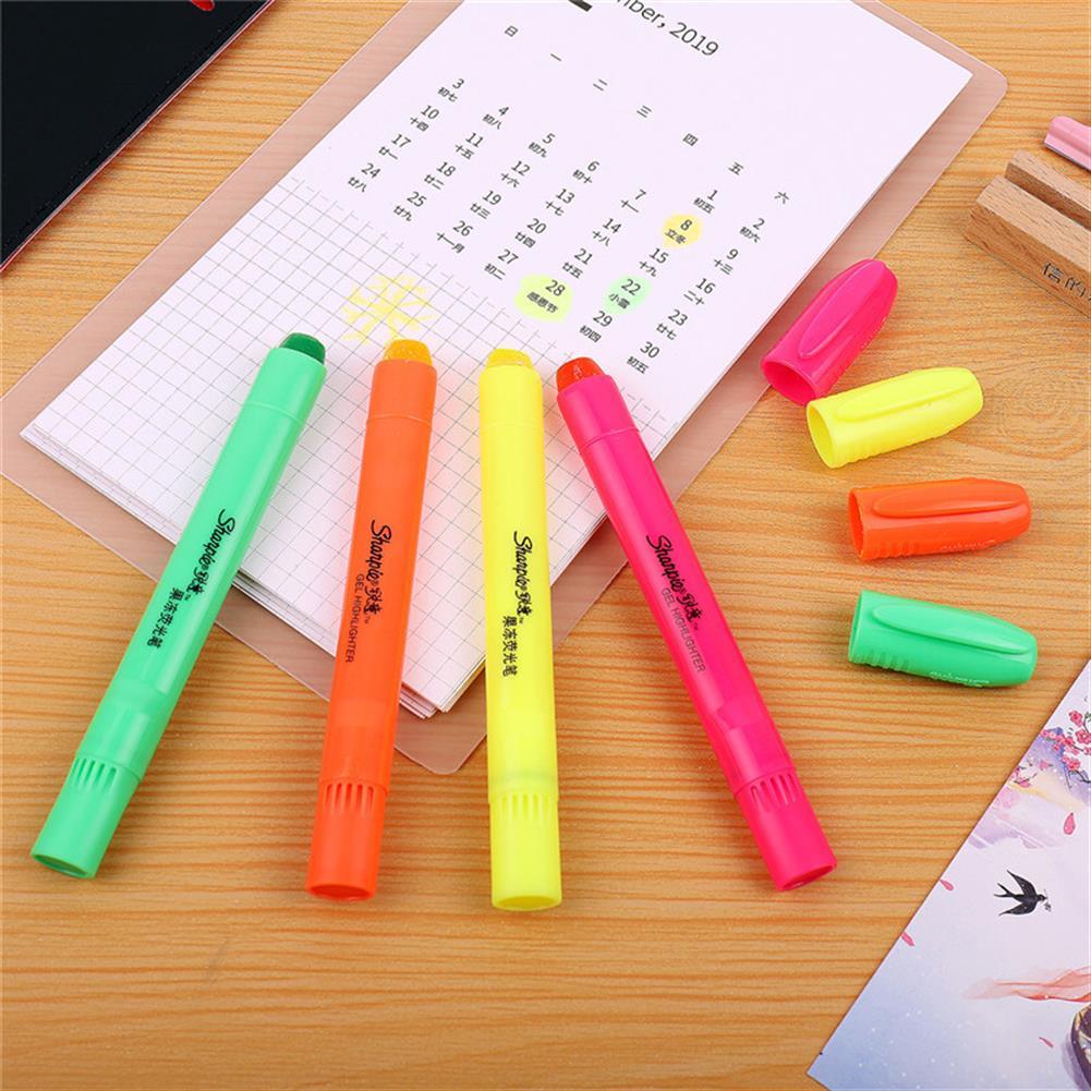 gel-pen Sharpie 4 Pcs/set Jelly Highlighter Fluorescent Pens Colorful Marker Pen Blister Pen Stationery office School Supplies from XIAOMI YOUPIN HOB1588371 3 1