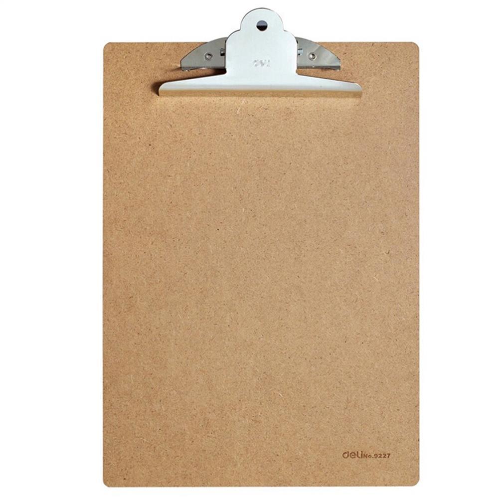 gel-pen Deli 9227 A4 Wooden Clip Board Portable Writing Board Clipboard office School Meeting Accessories with Metal Clip HOB1588636 1