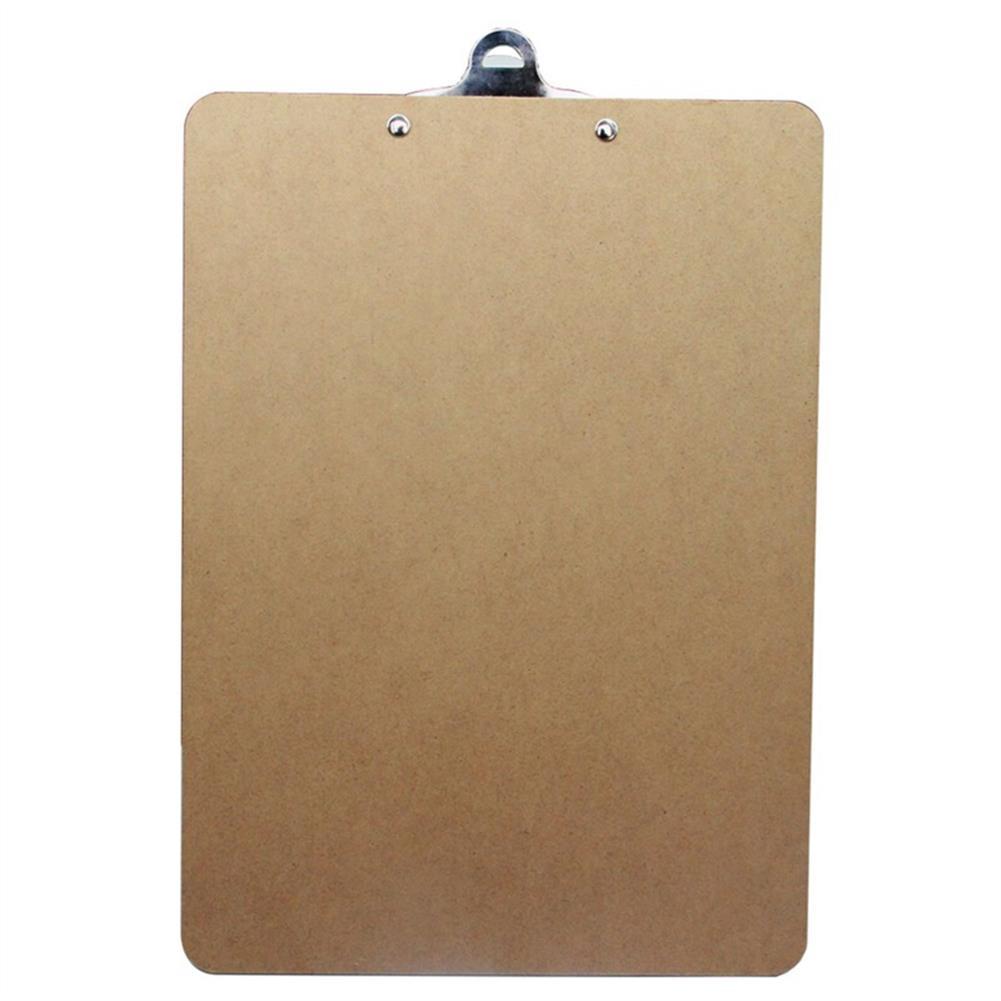 gel-pen Deli 9227 A4 Wooden Clip Board Portable Writing Board Clipboard office School Meeting Accessories with Metal Clip HOB1588636 1 1