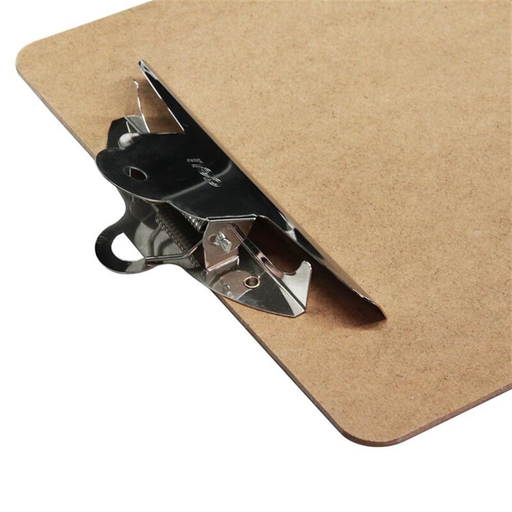 gel-pen Deli 9227 A4 Wooden Clip Board Portable Writing Board Clipboard office School Meeting Accessories with Metal Clip HOB1588636 3 1