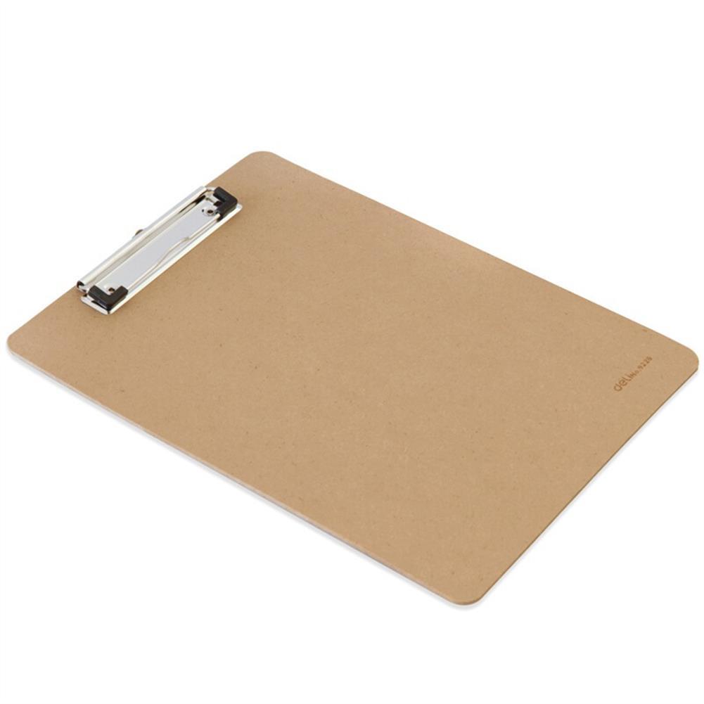 gel-pen Deli 9226 A4 Wooden Clip Board Portable Writing Board Clipboard office School Meeting Accessories with Metal Clip HOB1588657 2 1