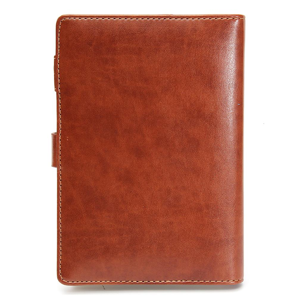 paper-notebooks B6 Notebook Vintage Notepad Diary Daily Memos Planner Agenda Notebook PU Leather Sketchbook with Lock Password office School Students Supplies HOB1588703 2 1